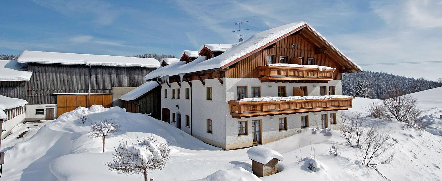 Landhaus Altweck im Winter Bayerischer Wal