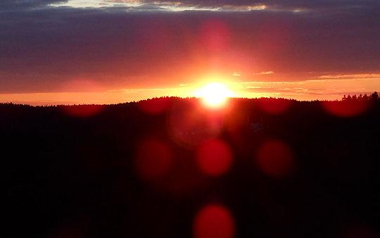 Bayerischer Wald Sonnenuntergang